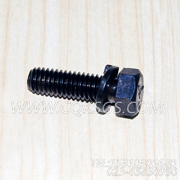 3010596带垫圈螺栓,用于康明斯KTA19-G3(M)柴油发动机节温器.壳.支架总成组,【轮船用】配件-0