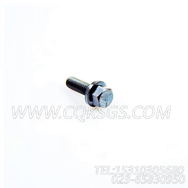 3011716带垫螺栓,用于康明斯NT855-C280主机进气管组,【出口台湾轨道车】配件-1