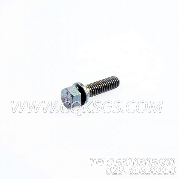 3012472带垫圈螺栓,用于康明斯KTA19-P425动力盖板组,【应急水泵机组】配件-1