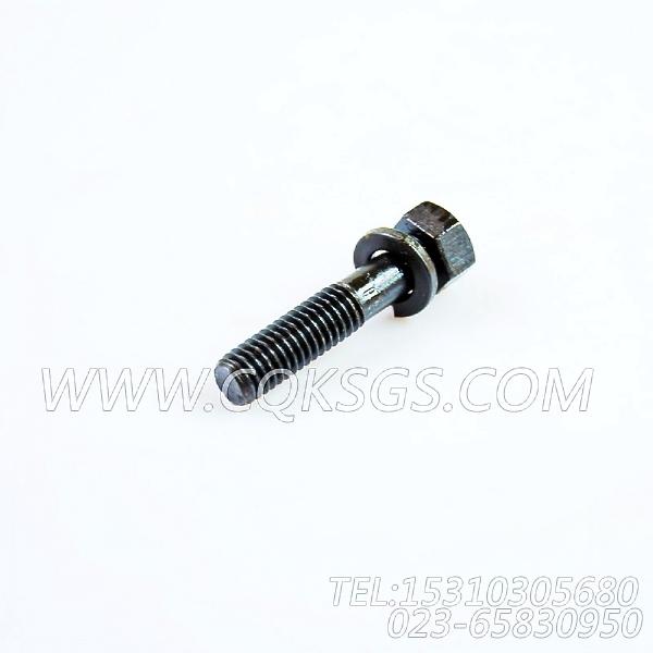 3012473带垫螺栓,用于康明斯NTA855-C310柴油机出水管组,【宝鸡南车GC220轨道车】配件
