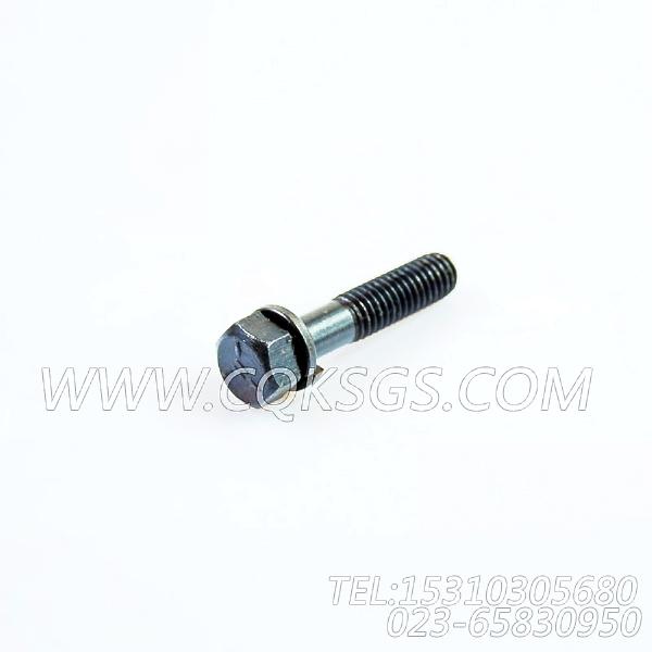 3012473带垫螺栓,用于康明斯NTA855-C310柴油机出水管组,【宝鸡南车GC220轨道车】配件-1