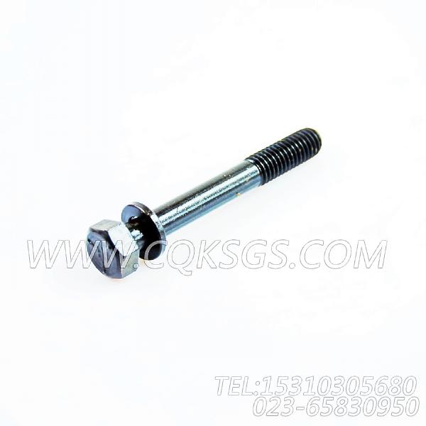 3012476带垫螺栓,用于康明斯KTA19-C525发动机水泵组,【首钢矿用自卸车】配件-2