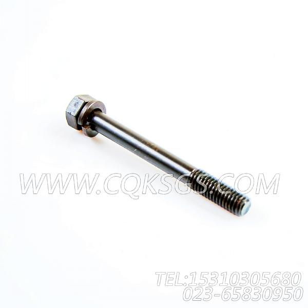 3012478带垫螺栓,用于康明斯KTA19-G4(M)柴油发动机机油冷却器组,【船用】配件-0