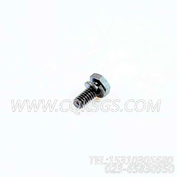 3013904带垫螺拴,用于康明斯NTA855-G1主机飞轮壳组,【柴油发电】配件-1