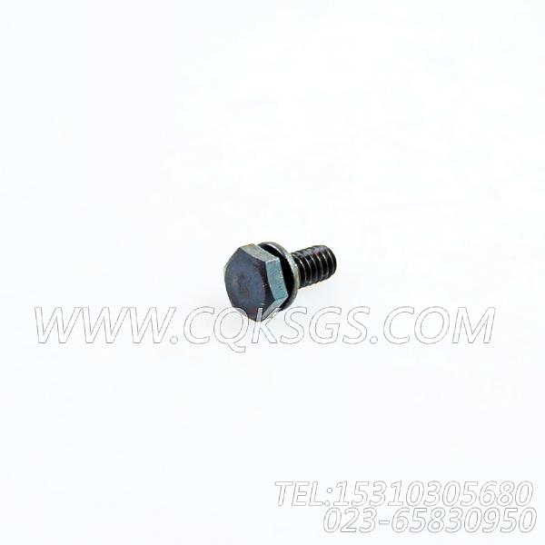 3013904带垫螺拴,用于康明斯NT855-C280主机出水管组,【固井水泥车】配件-2