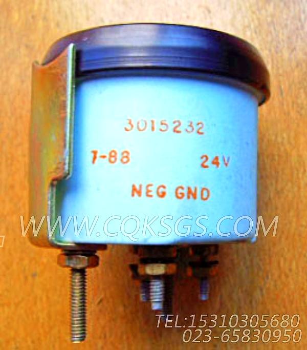 3015232油压表,用于康明斯KT38-G-550KW柴油机仪表板组,【发电用】配件-1