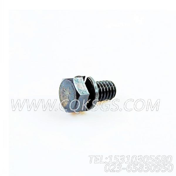3022589带垫螺栓,用于康明斯NTA855-G4柴油发动机机油冷却器组,【动力电】配件-2