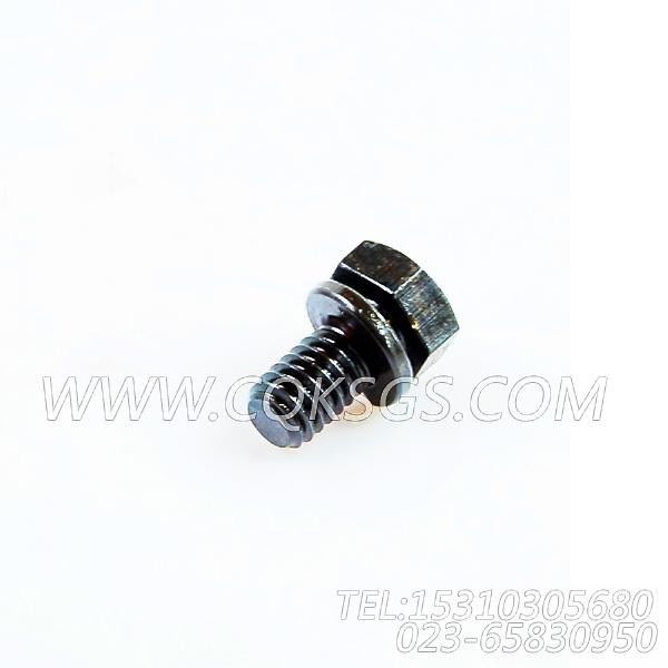 3022589带垫螺栓,用于康明斯NTCR-290动力节温器壳组,【吊管机】配件-1