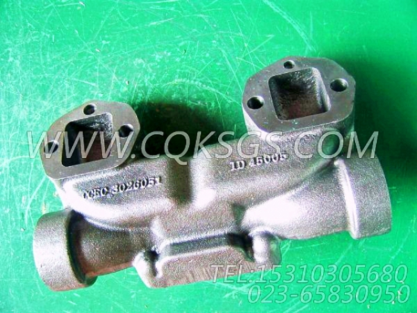 3026051排气管,用于康明斯NTA855-G2-CE170动力排气管及安装组,【泰安航天修井机】配件-0