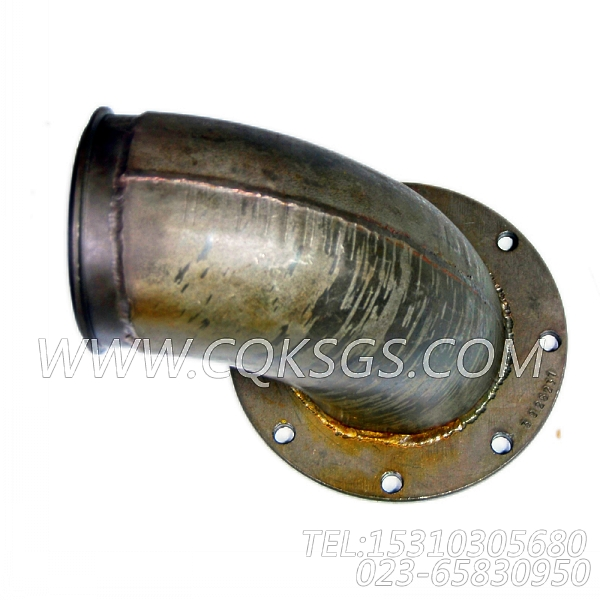 3026237排气管接头,用于康明斯KTA19-G2(M)柴油发动机排气管弯接头组,【船用主机】配件