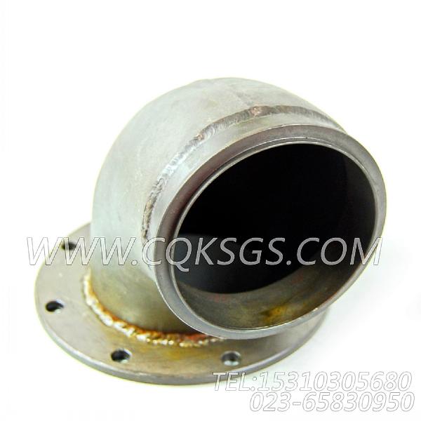 3026237排气管接头,用于康明斯KTA19-G2(M)柴油发动机排气管弯接头组,【船用主机】配件-1