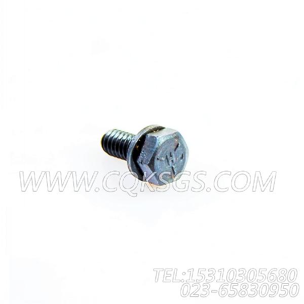 3033378带垫螺栓,用于康明斯KTA19-G4主机减振器防护罩组,【发电机组】配件-0