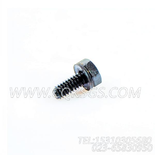 3033378带垫螺栓,用于康明斯KTA19-G4主机减振器防护罩组,【发电机组】配件-2
