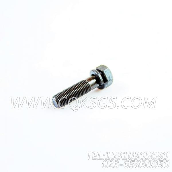 3034526带垫螺栓,用于康明斯NYA855-G4柴油机燃油滤清器组,【发电机组】配件-2