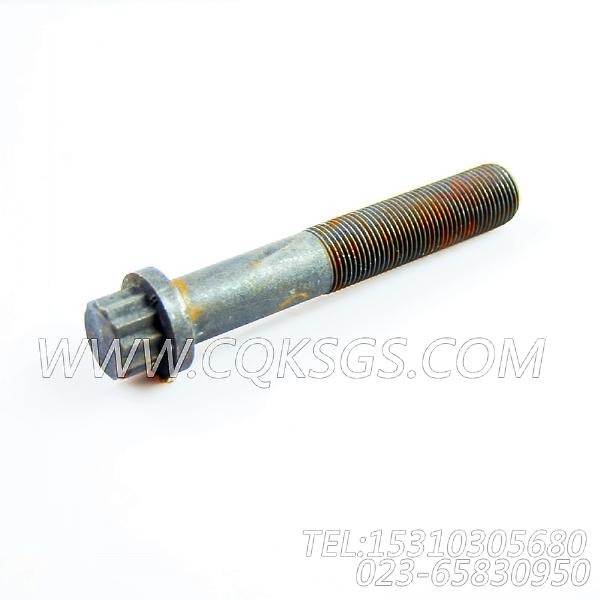 3036846十二角螺栓,用于康明斯KTA38-G5柴油发动机减振器组,【动力电】配件