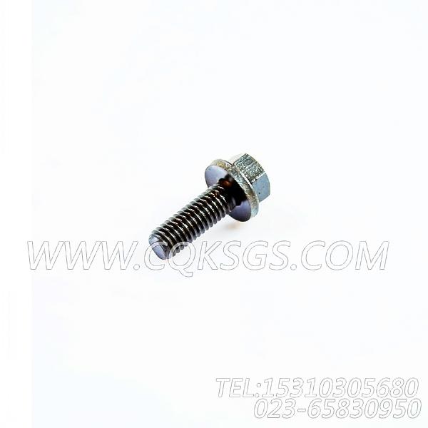 3040838带垫螺栓,用于康明斯KTA19-M600发动机手孔盖组,【船舶】配件-2