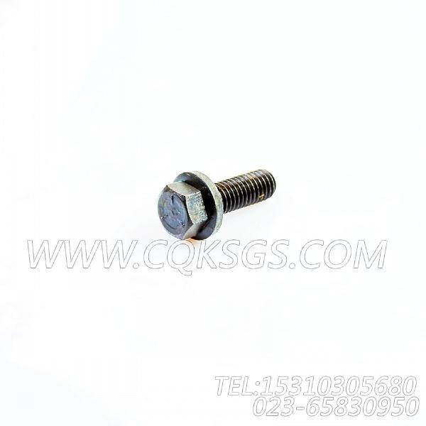 3040838带垫螺栓,用于康明斯KTA19-P425动力手孔盖组,【泥浆泵】配件-0