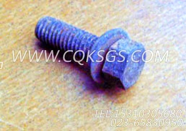3040838带垫螺栓,用于康明斯KTA19-P540柴油机手孔盖组,【消防泵】配件-1