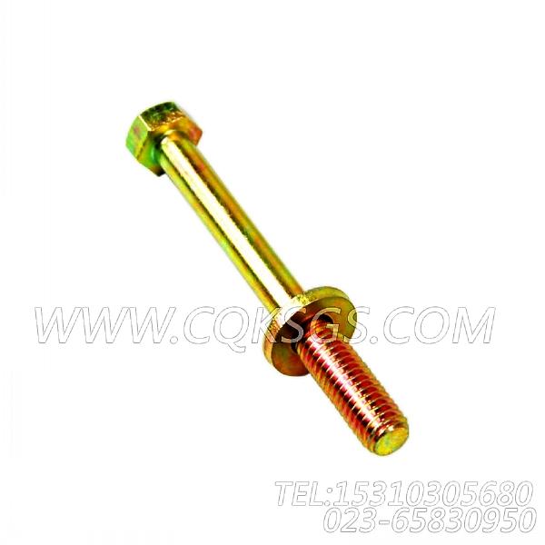 3078053带垫螺栓,用于康明斯KT19-C450主机机油冷却器组,【冷再生机】配件-1