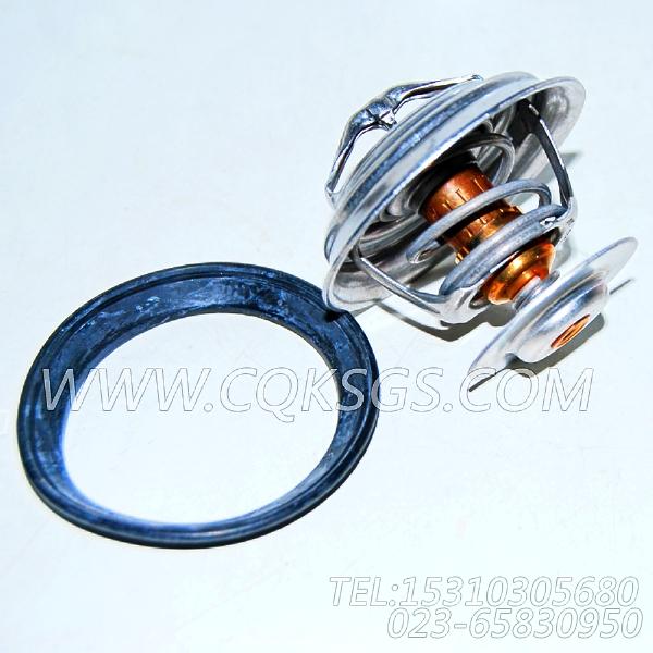 【引擎6LTAA8.9-C300的节温器组】 康明斯节温器,参数及图片