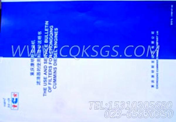 3166107滤清器使用说明书,用于康明斯KTA19-G2柴油发动机随机资料组,【电力】配件