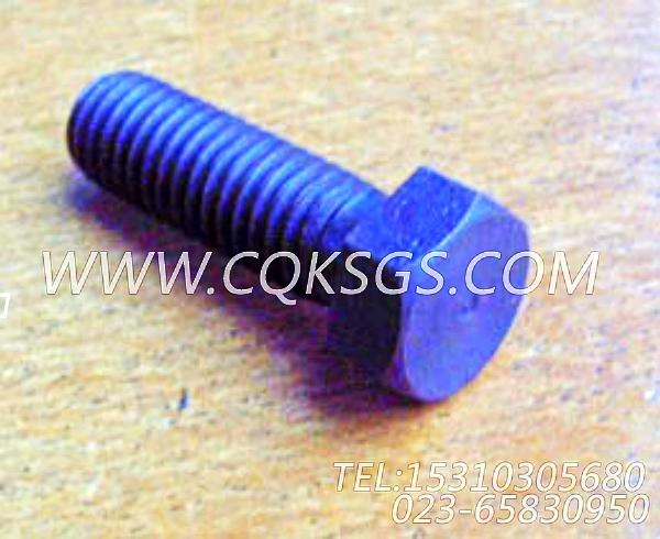 185804六角螺栓,用于康明斯KTA19-M500柴油发动机海水泵组,【船用主机】配件-1