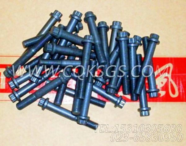【发动机C245 21的起动机安装件组】 康明斯十二角头螺栓,参数及图片