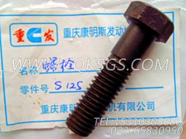 S125六角螺栓,用于康明斯KTA38-C1200发动机基础件组,【内一机推土机】配件-0