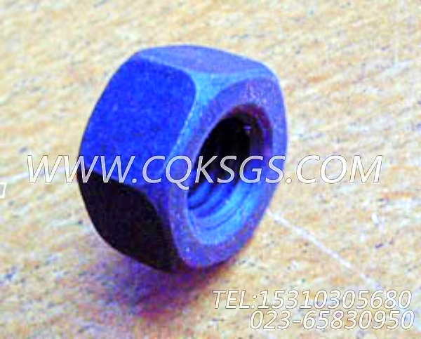 S217六角厚螺母,用于康明斯KT38-G-500KW柴油发动机风扇水箱组,【发电用】配件-2