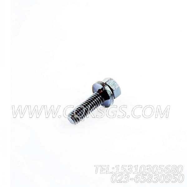 3011716带垫螺栓,用于康明斯NT855-L290发动机进气管组,【车用】配件-0