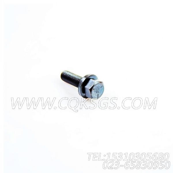 3011716带垫螺栓,用于康明斯NTC-290主机后置式进气管组,【材料运输车】配件-1