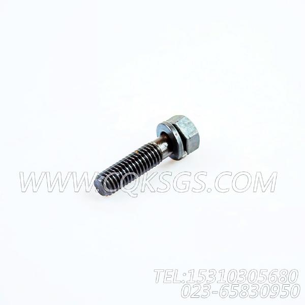 3012472带垫圈螺栓,用于康明斯KTA19-P425动力盖板组,【应急水泵机组】配件-2