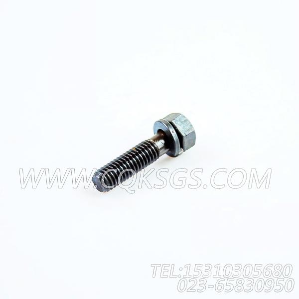 3012472带垫圈螺栓,用于康明斯KTA19-P425动力盖板组,【应急水泵机组】配件-0