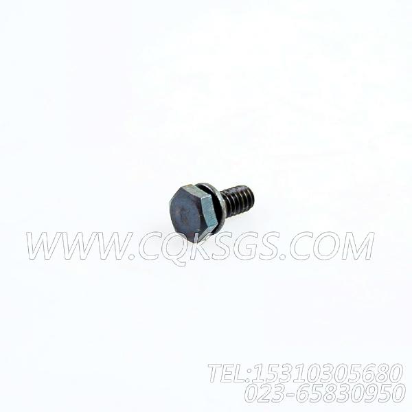 3013904带垫螺拴,用于康明斯NTA855-G1主机飞轮壳组,【柴油发电】配件-0