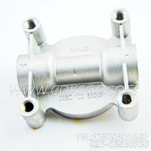 204163水滤器座,用于康明斯M11-C225柴油机水滤器组,【中航技矿用自卸车】配件