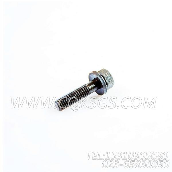 3033038带垫螺栓,用于康明斯KTA19-G3主机机油冷却器组,【发电用】配件-2