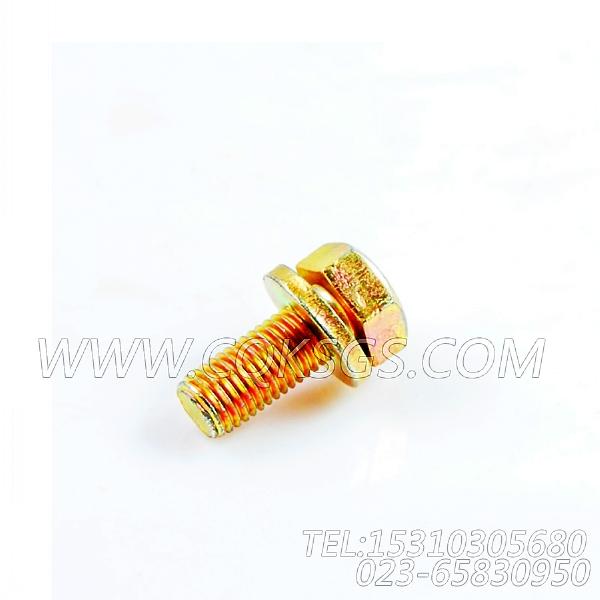 3033822带垫圈螺栓,用于康明斯NTA855-P360柴油机基础件(船检)组,【应急水泵机组】配件-1