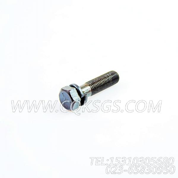 3034526带垫螺栓,用于康明斯NYA855-G4柴油机燃油滤清器组,【发电机组】配件-0