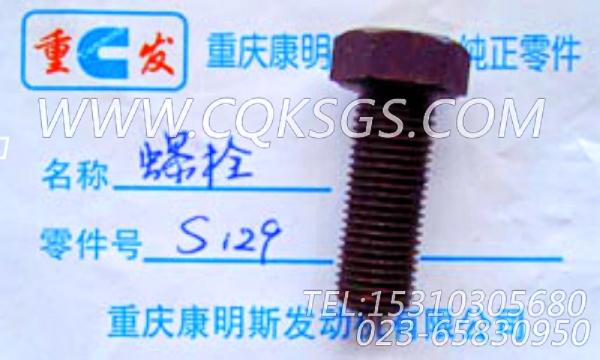 S129六角螺栓,用于康明斯NTC-400发动机基础件组,【四川长起起重机】配件-2