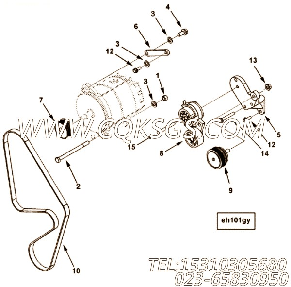【V型棱皮带】康明斯CUMMINS柴油机的3681812 V型棱皮带