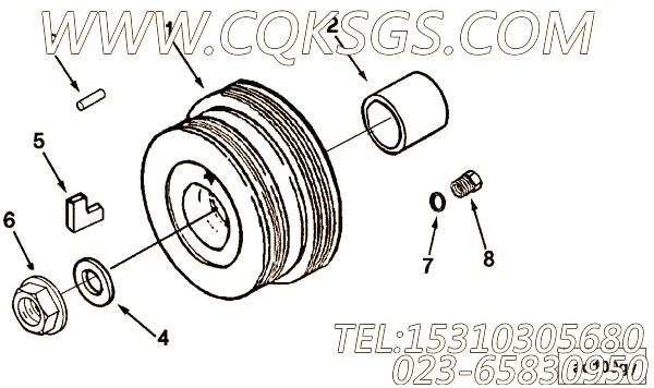 3037537O型密封圈,用于康明斯M11R-290动力节温器壳组,【船舶用】配件