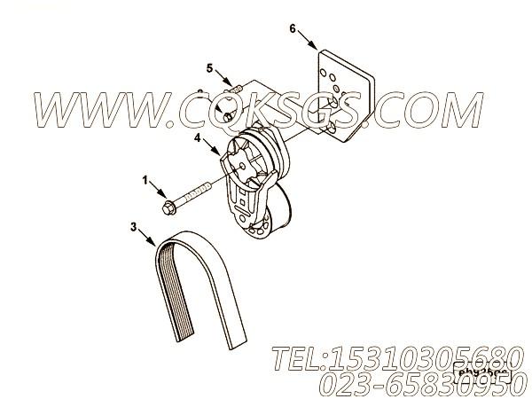 【发动机B160 33的发电机驱动件组】 康明斯多楔带,参数及图片