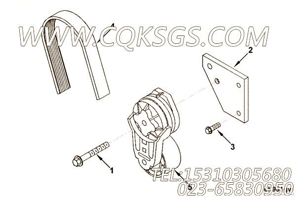 【皮带张紧轮支架】康明斯CUMMINS柴油机的3283046 皮带张紧轮支架