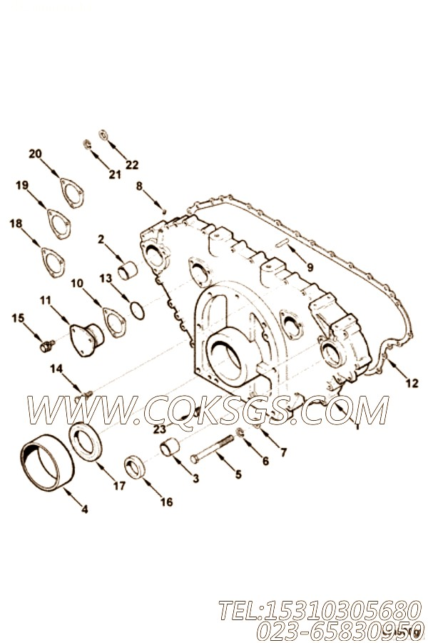 【齿轮罩】康明斯CUMMINS柴油机的3014091 齿轮罩