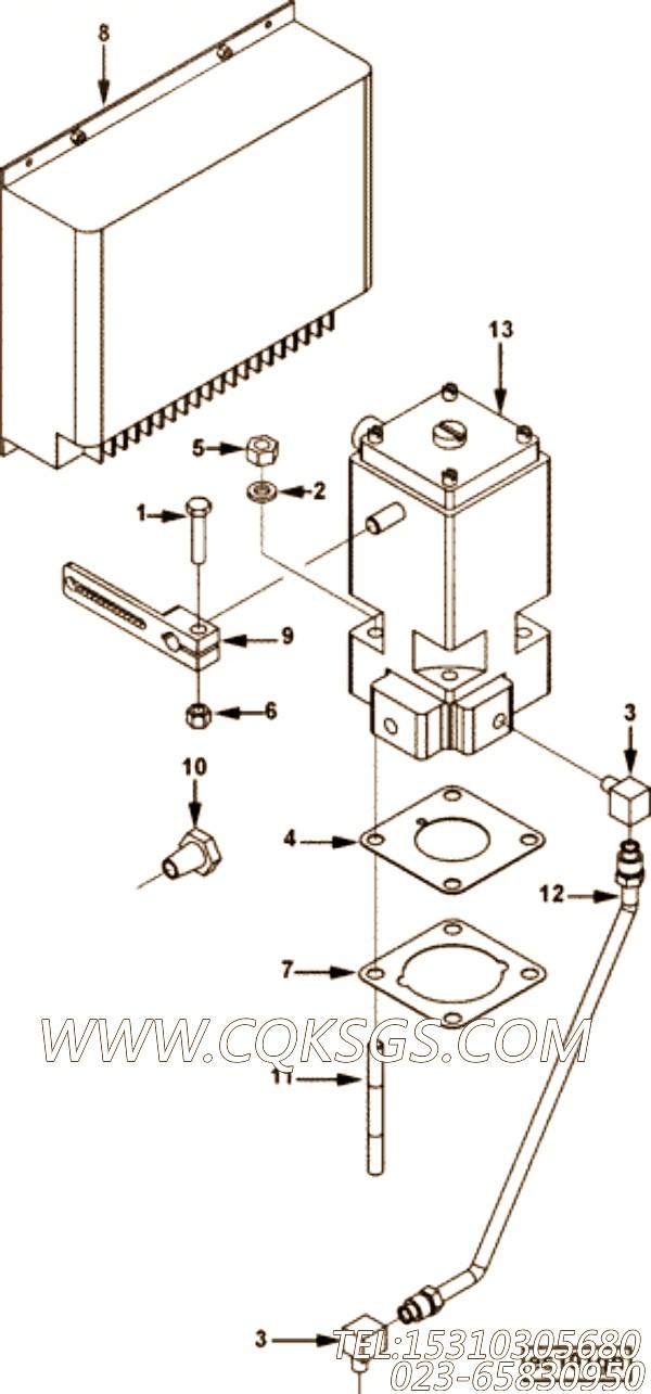 【调速器控制】康明斯CUMMINS柴油机的3338228 调速器控制