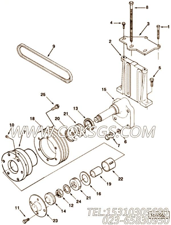 70896六角螺栓,用于康明斯NTA855-G1发动机发动机导线组,【柴油发电】配件