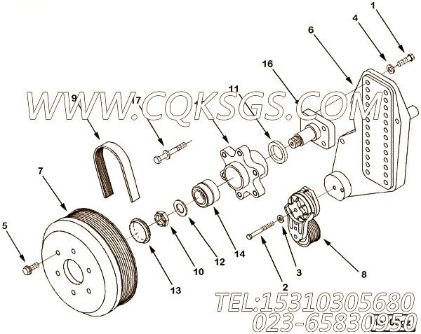 63842平垫圈,用于康明斯NTC-400主机进水接头组,【钻机】配件