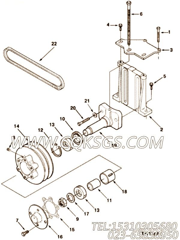 3012467平垫圈,用于康明斯NT855-C280动力风扇布置组,【材料运输车】配件