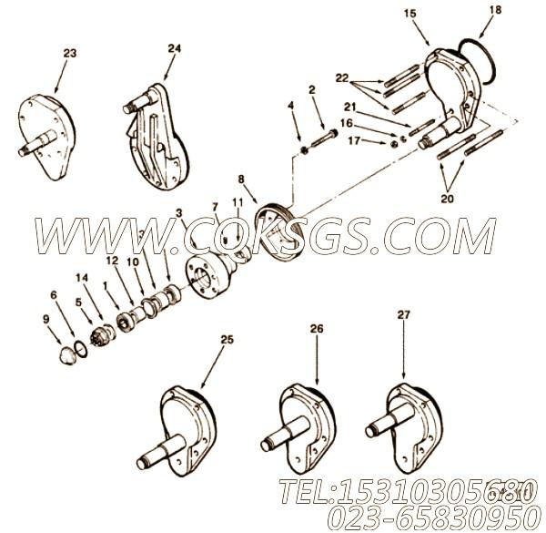 3201659矩型密封圈,用于康明斯M11-C350H发动机气缸体组,【华菱俄罗斯牵引车】配件