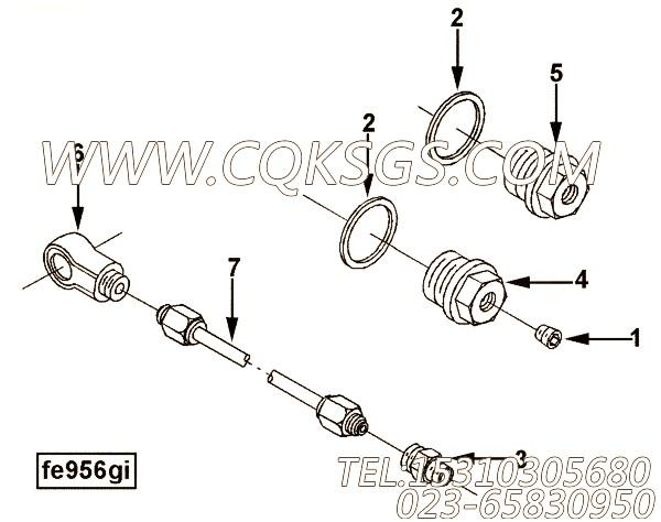 【柴油机6CT8.3-G的气缸盖组】 康明斯螺塞,参数及图片